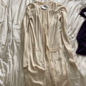 3/$20 Oversized long beige cardigan, size x-large